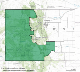 Colorados 3rd congressional district U.S. House district in western Colorado