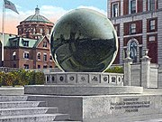 The sundial as it originally appeared prior to the removal of the granite sphere