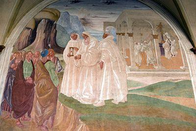 Evangelizzazione dei cassinati per opera di San Benedetto