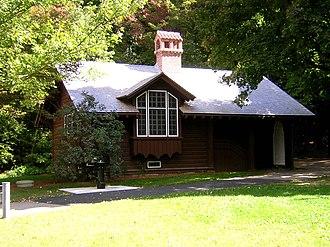 Comfort Station (Milton, Massachusetts) - West side