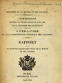 Commission par décision royale du 26 mai 1840 - Colonies, esclavage, constitution politique.png