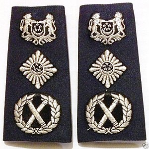 Police commissioner - Image: Commissioner Police SPF epaulettes (everyday dress)