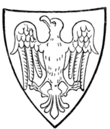 Fig. 453.—Arms of Ralph de Monthermer, Earl of Gloucester and Hereford: Or, an eagle vert. (From his seal, 1301.)