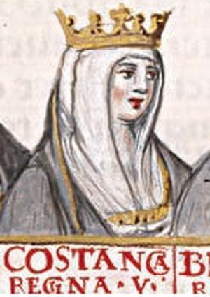 Constance of Burgundy - Miniature of Constance of Burgundy, second wife of Alfonso VI of Leon and Castile
