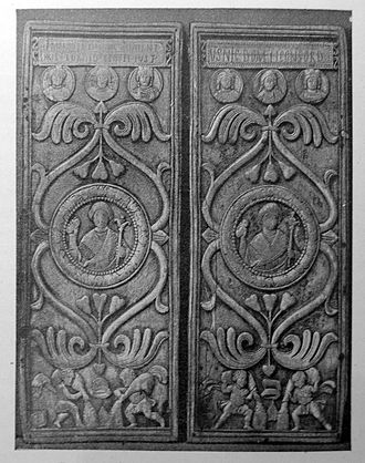 Byzantine Empire under the Justinian dynasty - Consular diptych (540) of Justin, son of Germanus, cousin of Justinian.