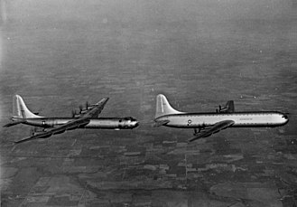 Convair XC-99 - The XC-99 in flight with a B-36B