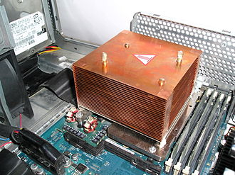 Thermal management (electronics) - Heat sink in a workstation computer