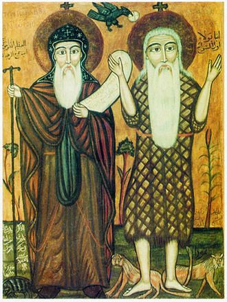 History of Oriental Orthodoxy - Coptic icon of Saint Anthony and Saint Paul