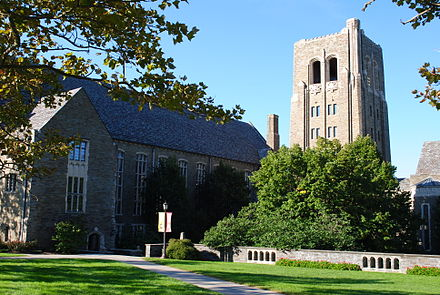View of Cornell Law School from Central Avenue Cornell Law School.JPG