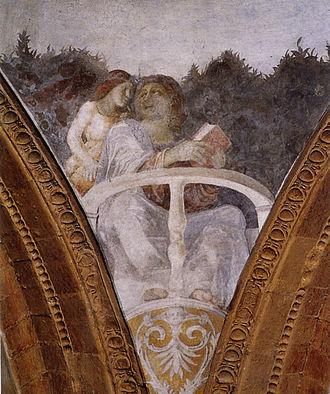 Mantegna funerary chapel - Correggio, Saint Matthew and the angel