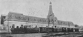 General Urquiza Railway - Corrientes station, terminus of Economic Railway.