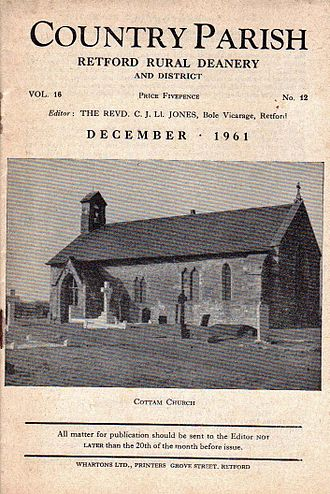 Parish magazine - Country Parish, Dec. 1961: a jointly-produced magazine for parishes in Retford Rural Deanery, Nottinghamshire. At various times it included the insets Home Words and the Southwell Diocesan News