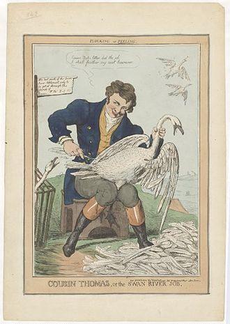 Robert Seymour (illustrator) - An 1829 political caricature of Thomas Peel by Robert Seymour