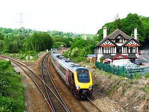 Beginn der Tarka Line (linker Ast) bei Cowley Bridge Junction