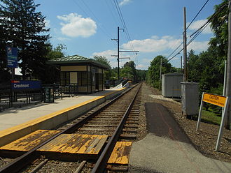 Request stop - Image: Crestmont Station June 2014