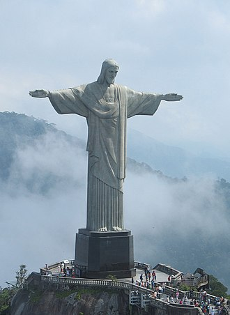 1931 in Brazil - 12 Oct: Statue of Christ the Redeemer