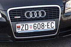 Vehicle Registration Plates Of Croatia Wikipedia