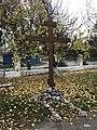 Cross near Sviato-Mykolaivs'ka temple - Dnipro, Ukraine.jpg