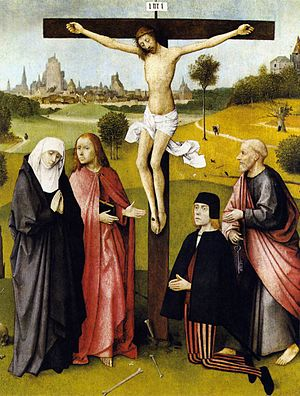Crucifixion with a Donor (Bosch) - Image: Crucifixion With A Donor Bosch