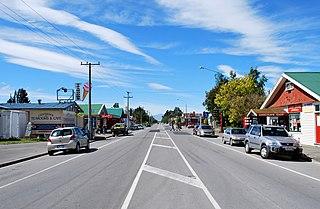 Culverden town in Canterbury, New Zealand