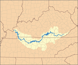 Map of the Cumberland River Watershed