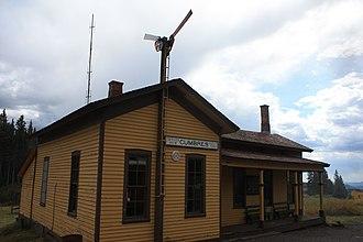 Cumbres Pass - Image: Cumbres station, CTSRR