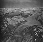 Cushing and Carroll Glaciers, valley glaciers and icefield, September 12, 1973 (GLACIERS 5359).jpg