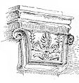 Cushion capital from Priene Die Baukunst Der Griegen fig 309.jpg