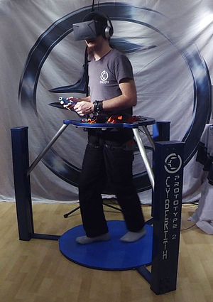 Cyberith Virtualizer - Cyberith Virtualizer Prototype 2 in use