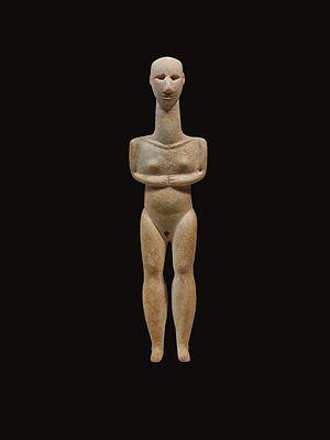 Cycladic art - Cycladic marble figurine, Plastiras type