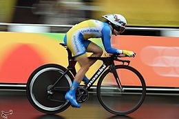 Cycling at the 2016 Summer Olympics – Women's road time trial - Hanna Solovey.jpg