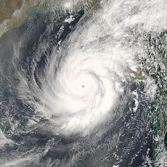 2006 North Indian Ocean cyclone season - Image: Cyclone Mala