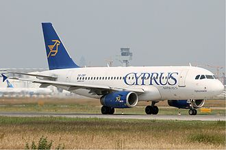 Cyprus Airways (1947–2015) - Cyprus Airways Airbus A319 taxiing at Frankfurt Airport (2010)