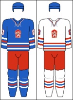 Czechoslovakia national hockey team jerseys (with COA).png