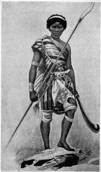 Fon people - A female warrior of the Fon people