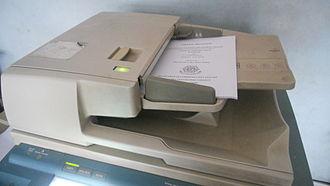 Photocopier - DADF or Duplex Automatic Document feeder - Canon IR6000