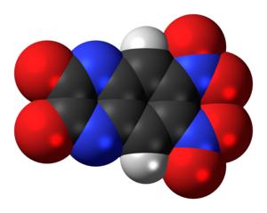 DNQX - Image: DNQX molecule spacefill