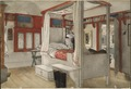 Daddy's Room. From A Home (26 watercolours) (Carl Larsson) - Nationalmuseum - 24214.tif