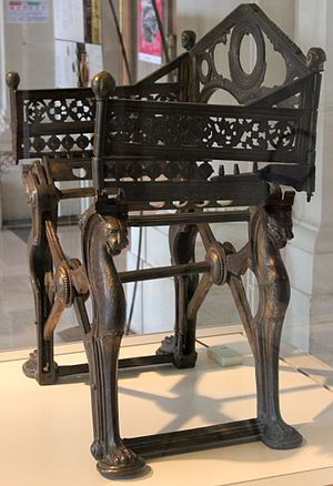 Curule seat - The throne of Dagobert.