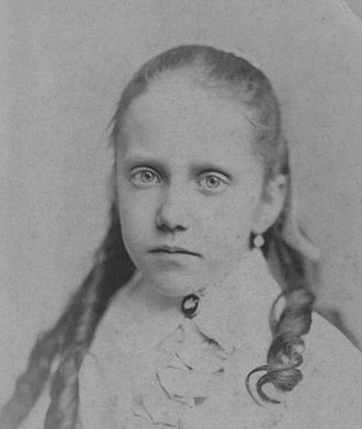 Sweet Briar College - Daisy Williams (1867–1884), daughter of Indiana Fletcher Williams, ca. age 12