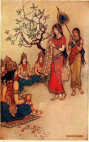 Damayanti - Image: Damayanti Choosing a Husband by Warwick Goble