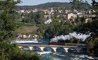 Neuhausen am Rheinfall - Image: Dampflokomotive beim Rheinfall, Neuhausen