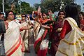 Dancing Devotees - Durga Idol Immersion Ceremony - Baja Kadamtala Ghat - Kolkata 2012-10-24 1286.JPG