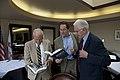 Daniel Ellsberg, Mike Myatt, & Robert Rosenthal (15180381714).jpg