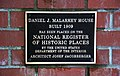 Daniel J. Malarkey House NRHP plaque.jpg