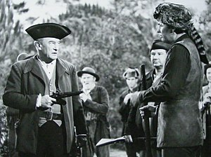 Daniel Boone (1964 TV series) - Parker with guest star George Sanders, 1966