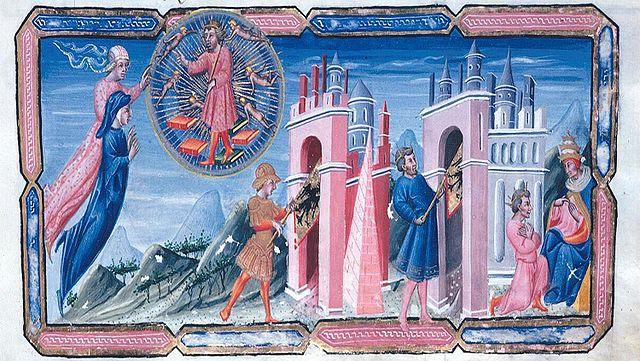 Джованни ди Паоло, Юстиниан повествует об истории Римской империи
