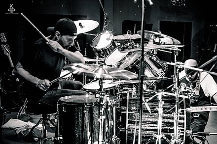Former Slayer drummer Dave Lombardo, a longtime friend and supporter of Suicidal Tendencies, has been a member of the band since 2016. Dave Lombardo.jpg
