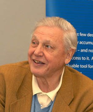 Environmentalist -  Sir David Attenborough in May 2003.