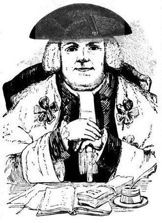 David Dalrymple, Lord Hailes - Woodcut of David Dalrymple, Lord Hailes
